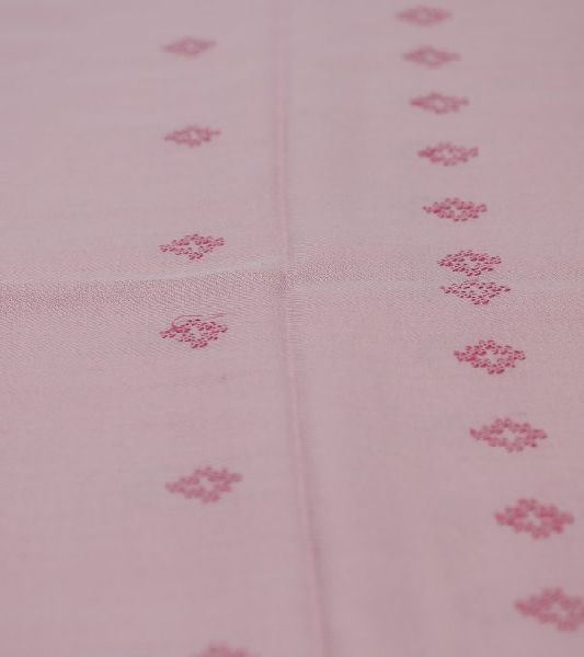 Baby Pink Lambswool Side Border Stole