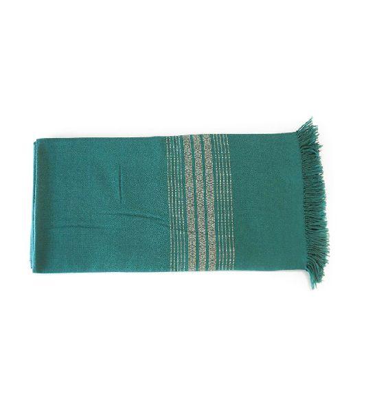 Peacock Green Lambswool Shawl