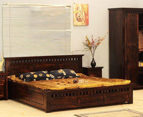 Kuber Design Sheesham Wood Double Bed