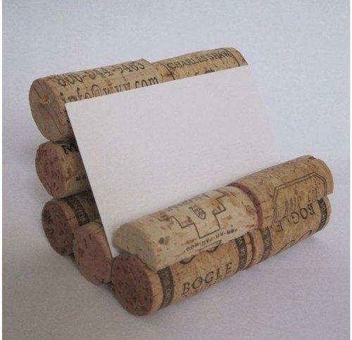 Wine Cork Card Holder