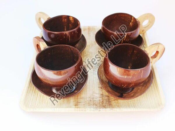 Coconut Shell Tea Cup Set