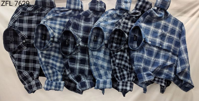 Mens Check Shirt (ZFL 7629)