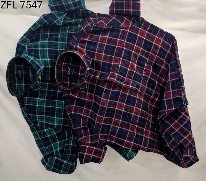 Mens Check Shirt (ZFL 7547)