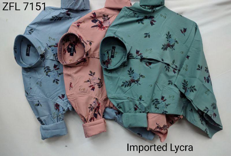 Mens Printed Lycra Shirt (7151)