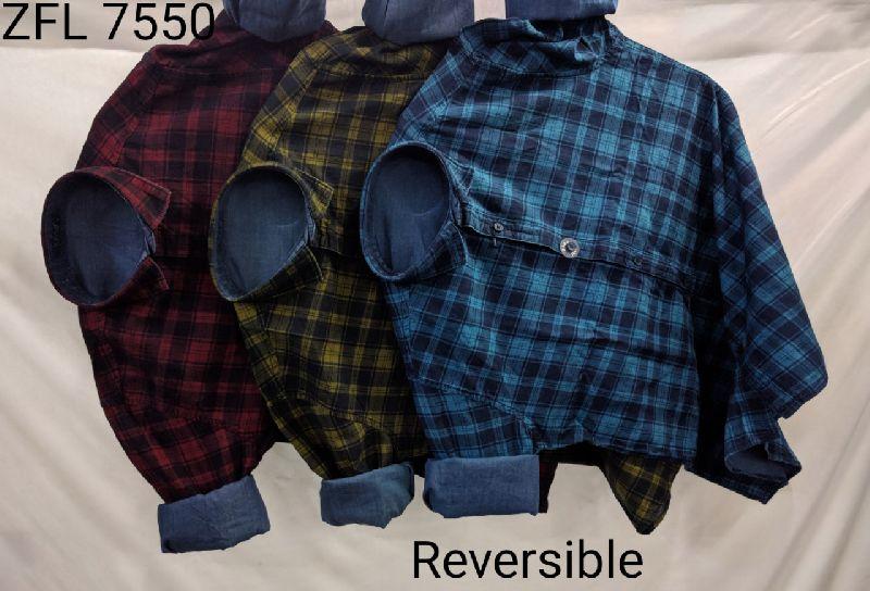 Mens Check Shirt (ZFL 7550)