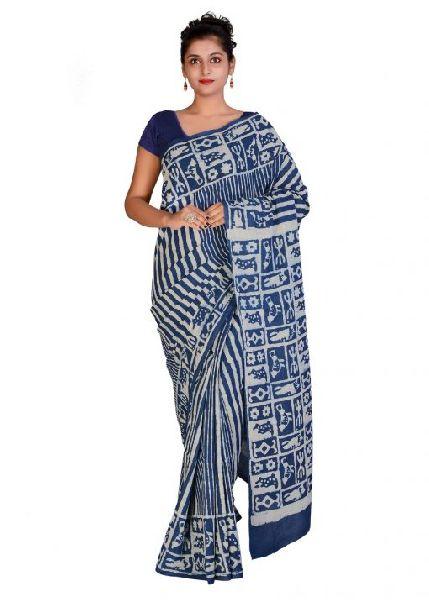 Designer Printed Cotton Sarees