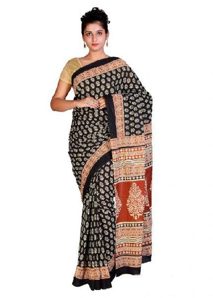 Hand Block Printed Cotton Sarees