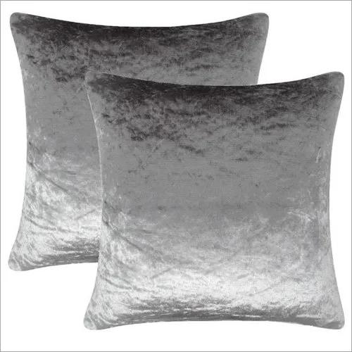 Plain Silver shiny Cushion
