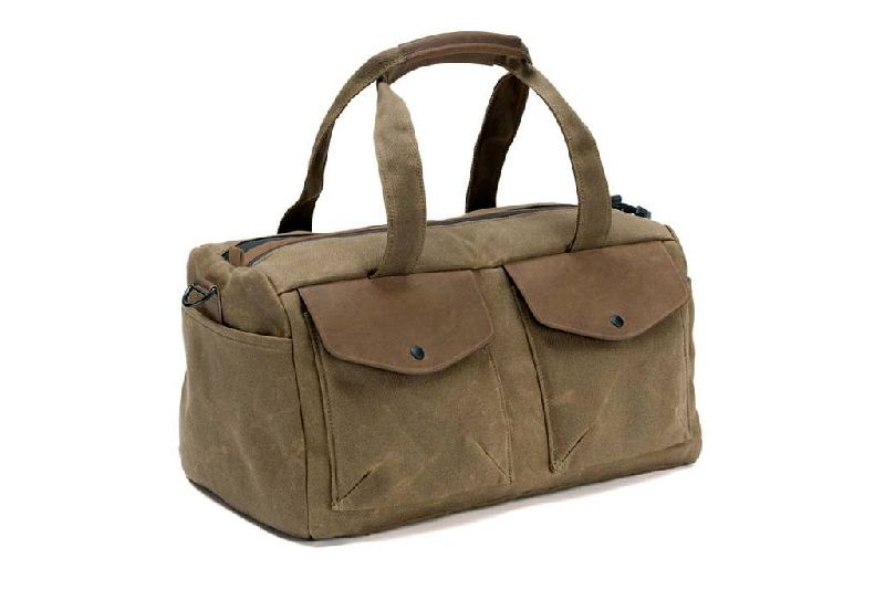 DUF-105 Leather Canvas Messenger Bag