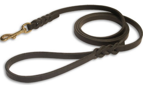 NC-LES-106 Rope Dog Leash with Leather Handle