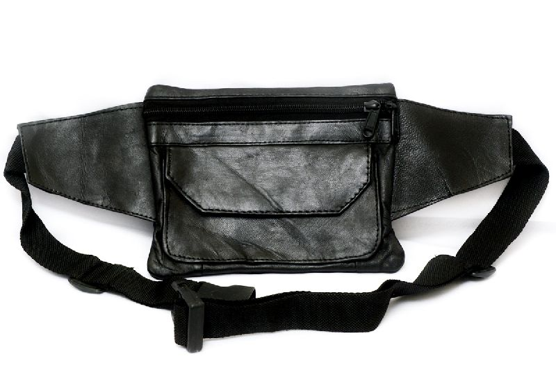 Genuine Sheep Leather Three Zipper Waist Bag (T&T-L6)