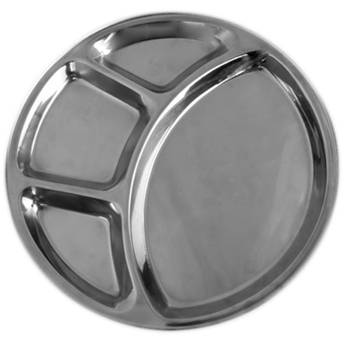 4 Compartment Stainless Steel Thali