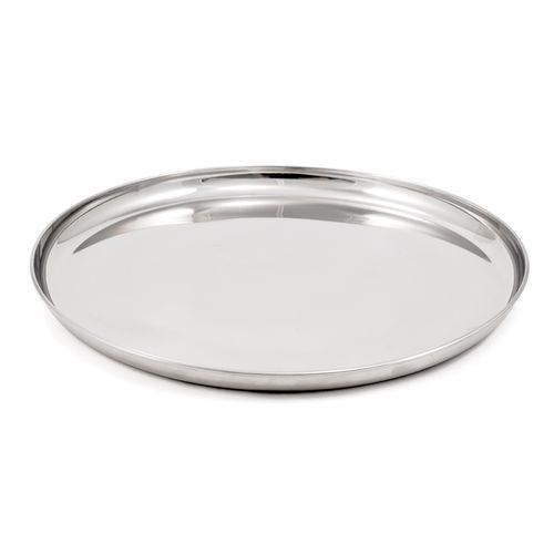 Plain Stainless Steel Dinner Plate