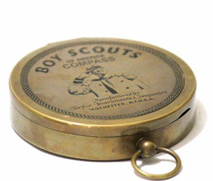 American Boy Scout Compass Antique Vintage Brass Compass