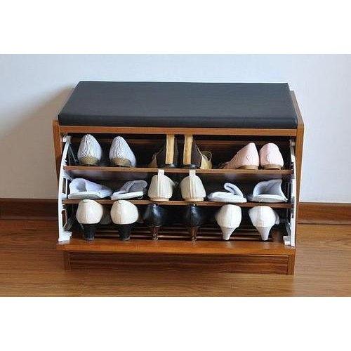 15 Inch Wooden Shoe Rack
