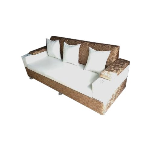 3 Seater Cushion Back Wooden Sofa Set