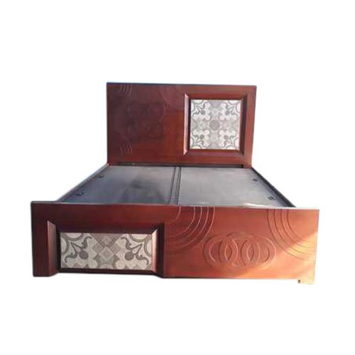 King Size Designer Tiles Wooden Double Bed
