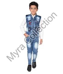 Boys Shirt & Jeans Set