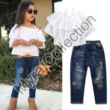 Girls Shirt & Jeans Set
