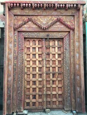 Wooden Door with Frame