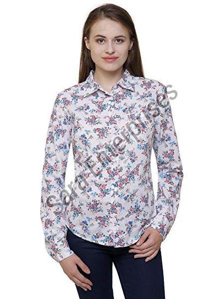 ladies printed shirt