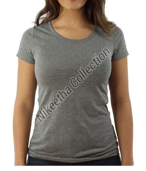 Ladies Round Neck T Shirts