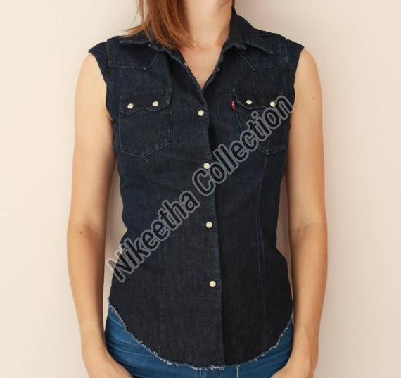 Ladies Sleeveless Shirt