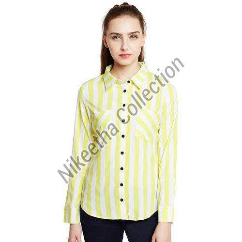 Ladies Striped Shirt