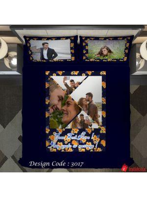 Photo Bedsheet Blue BD3017-2