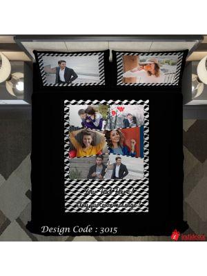 Photo Bedsheet Black BD3015-3