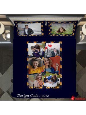 Photo Bedsheet Blue BD3012-2