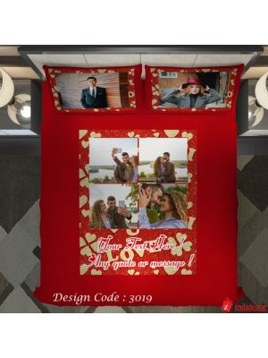 Photo Bedsheet Red BD3019-1