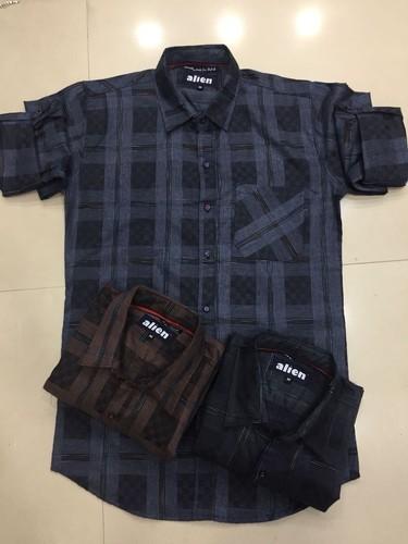 Mens Designer Check Shirt