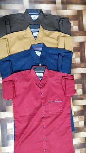 Mens Linen Plain Shirt