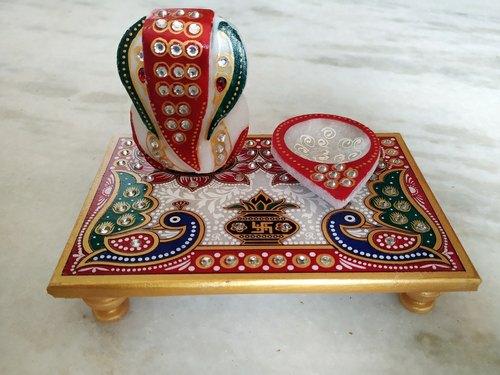 Marble Ganpati Deepak Pata Chowki