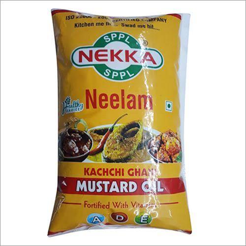 1 Ltr. Kachchi Ghani Mustard Oil Pouch