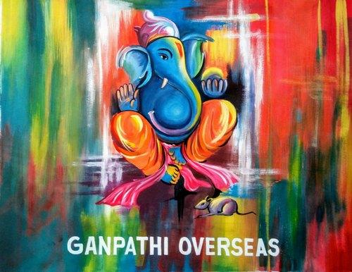 Canvas Ganpati Painting
