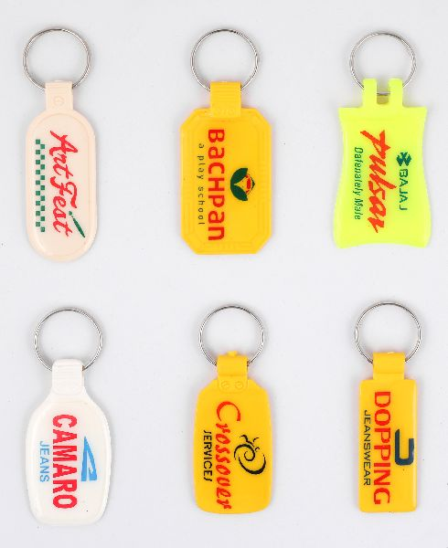 ABS Plastic Double Side Laminated Keychains