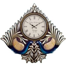 Dancing Peacock Wall Clock