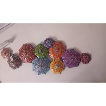 Multicolor Iron Umbrella Wall Hanging