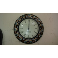 Vintage Village Hand Painted Wall Clock