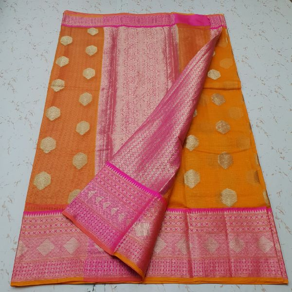 Kota Doria Silk Weaving Saree 04