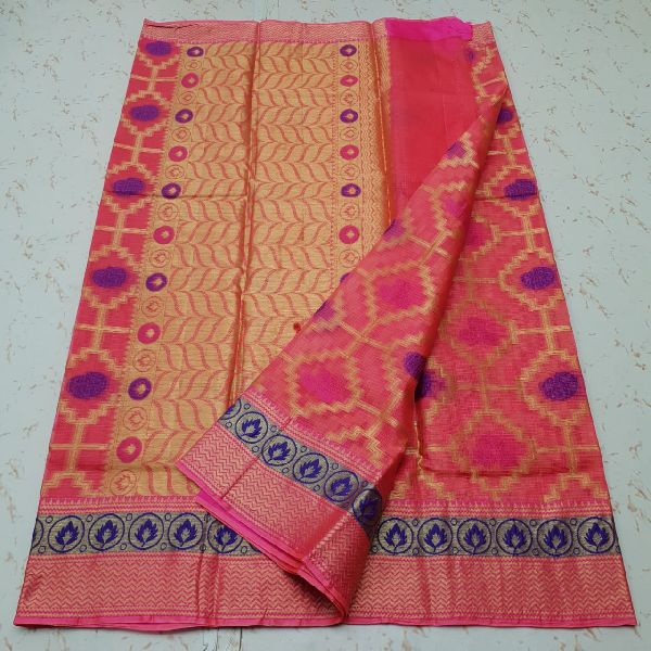 Kota Doria Silk Weaving Saree 05