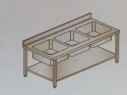 Fabricated Three Sink Unit