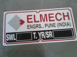Aluminium Etched and Painted Name Plate 02