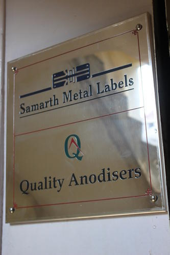 Stainless Steel Etched Nameplate 01