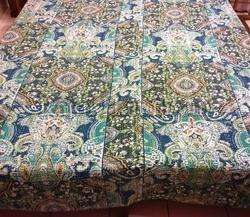 Cotton Thread Work Kantha Bed Cover