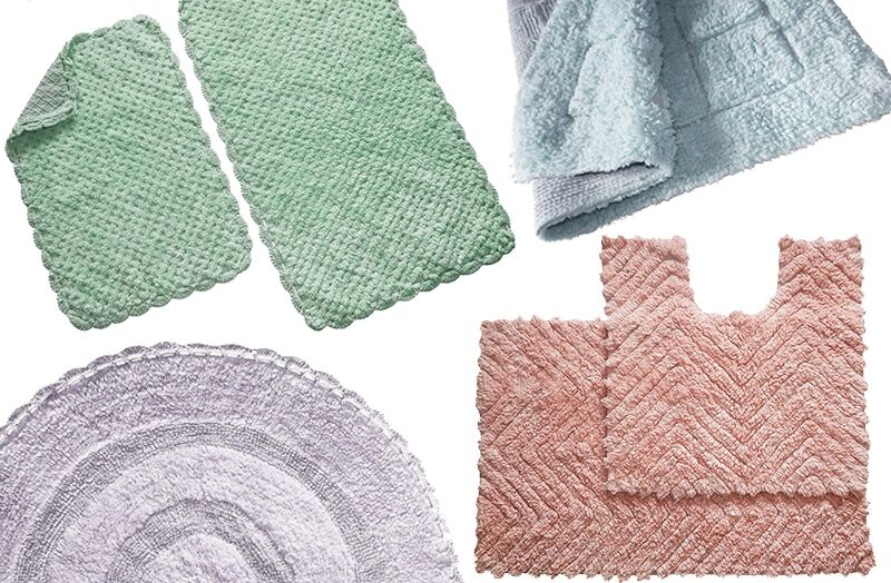Pastel Collection Bath Rugs