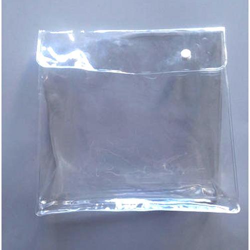PVC Transparent Button Bag