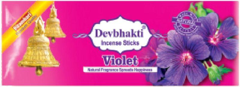 Devbhakti Violet Flower Incense Sticks
